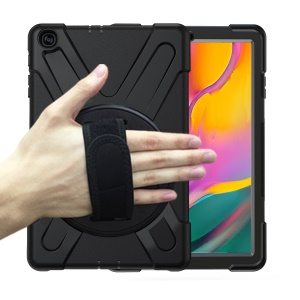 [X-Shape] PC + Silicone Combo Tablet Case for Samsung Galaxy Tab A 10.1 (2019) SM-T515 - Black