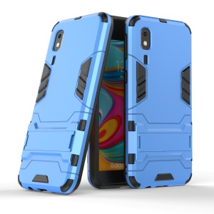 Plastic + TPU Hybrid Case with Kickstand for Samsung Galaxy A2 Core - Baby Blue