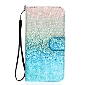 Leather Case Stand Card Holder for Samsung Galaxy A5 SM-A500F - Glitter Gravel