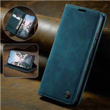 CASEME 013 Series Auto-absorbed Leather Wallet Stand Case for Samsung Galaxy A40 - Blue