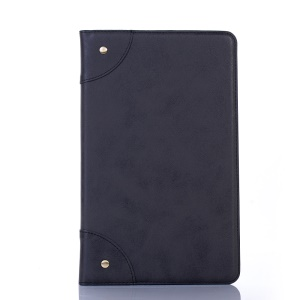 Retro PU Leather Tablet Case with Wallet Stand for Samsung Galaxy Tab A 10.1 (2019) T510/T515 - Black
