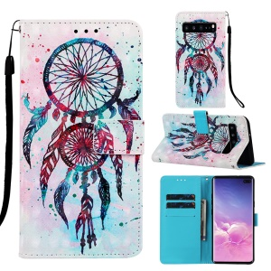 Pattern Printing Light Spot Decor Leather Wallet Case for Samsung Galaxy S10 5G - Dream Catcher