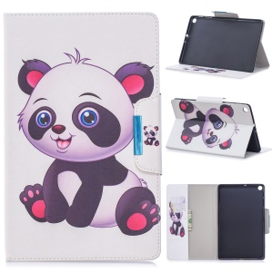 Pattern Printing Wide Clasp Stand Wallet Flip Leather Tablet Cover for Samsung Galaxy Tab S5e SM-T720 / SM-T725 - Baby Panda