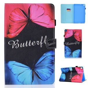Pattern Printing Leather Tablet Cover with Card Slots for Samsung Galaxy Tab A 10.1(2019) T510 - Butterfly
