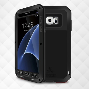 LOVE MEI Shockproof Dropproof Dustproof Case for Samsung Galaxy S7 G930 - Black