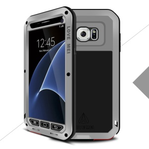 LOVE MEI Shockproof Dropproof Dustproof Case Cover for Samsung Galaxy S7 G930 - Silver