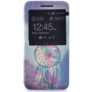 Fragrant View Window Leather Folio Cover for Samsung Galaxy Grand Prime SM-G530 - Dream Catcher