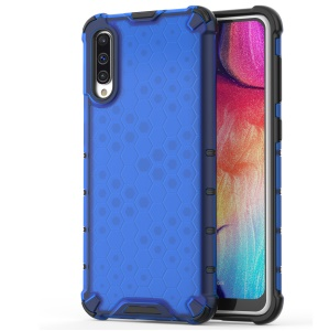 Honeycomb Shock Absorber TPU + PC Hybrid Back Mobile Casing for Samsung Galaxy A50/A50s/A30s - Blue