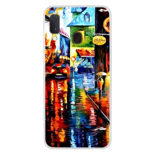 Pattern Printing TPU Case for Samsung Galaxy A20e - Oil Painting