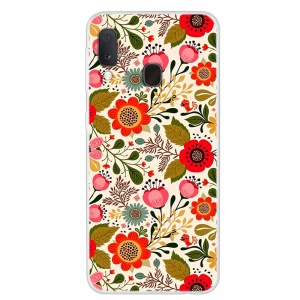 Pattern Printing TPU Case for Samsung Galaxy A20e - Vivid Flowers