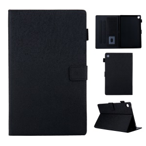Lines Grain Card Slots Stand Flip Leather Tablet Protective Case for Samsung Galaxy Tab S5e SM-T720 - Black