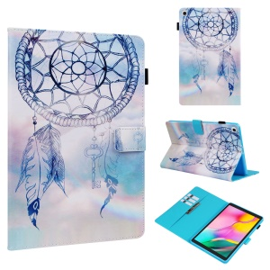 Pattern Printing Wallet Stand PU Leather Tablet Protective Case for Samsung Galaxy Tab A 10.1 (2019) T510/T515 - Wind Chimes