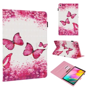 Pattern Printing Leather Wallet Case for Samsung Galaxy Tab A 10.1 (2019) T510/T515 - Style A