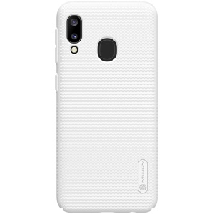 NILLKIN Super Frosted Shield Matte PC Hard Cover Cell Phone Case for Samsung Galaxy A20e - White