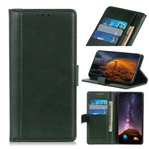 PU Leather Wallet Stand Case Cover for Samsung Galaxy A10e - Green