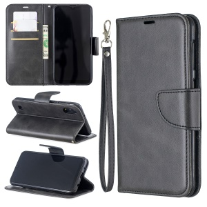 PU Leather Wallet Stand Phone Cover for Samsung Galaxy A10 / M10 - Dark Grey