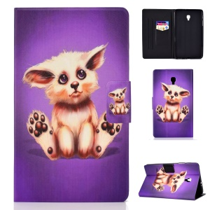 Pattern Printing Card Holder Stand PU Leather Tablet Case for Samsung Galaxy Tab A 8.0 (2017) SM-T380 / SM-T385 - Abyssinian Cat