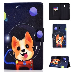 Pattern Printing Card Holder Stand PU Leather Tablet Case for Samsung Galaxy Tab A 8.0 (2017) SM-T380 / SM-T385 - Aerospace Dog