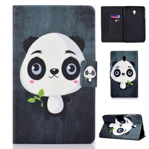 Pattern Printing Card Holder Stand PU Leather Tablet Case for Samsung Galaxy Tab A 8.0 (2017) SM-T380 / SM-T385 - Cute Panda