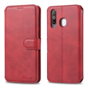 AZNS Wallet Leather Stand Case for Samsung Galaxy M30/A40s - Red