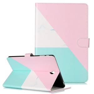 Pattern Printing Wallet Stand Flip Leather Tablet Case for Samsung Galaxy Tab S4 10.5 SM-T830/T835/T837- Triangle and Stone Grain