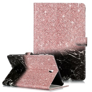 Pattern Printing Wallet Stand Flip Leather Tablet Case for Samsung Galaxy Tab S4 10.5 SM-T830/T835/T837- Glittery Element and Black Marble Grain