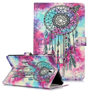Pattern Printing Wallet Stand Flip Leather Tablet Case for Samsung Galaxy Tab S4 10.5 SM-T830/T835/T837- Wind Chimes