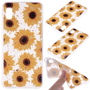 Glitter Sequins Inlaid Style TPU Phone Case for Samsung Galaxy A10e - Sunflowers