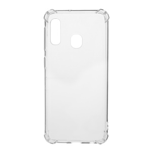 Clear Shock Absorption Soft TPU Phone Shell for Samsung Galaxy A20e - Transparent
