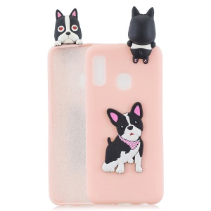 3D Animal Doll Pattern Soft TPU Phone Casing for Samsung Galaxy A20e - Dog