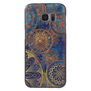 Embossed TPU Cover Case for Samsung Galaxy S7 edge G935 - Flowers Pattern