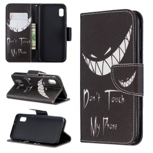 Printing Style PU Leather Flip Stand Phone Case for Samsung Galaxy A20e / A10e - Do not Touch My Phone