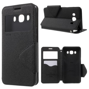 ROAR KOREA Diary Window View Leather Stand Case for Samsung Galaxy J5 (2016) - Black