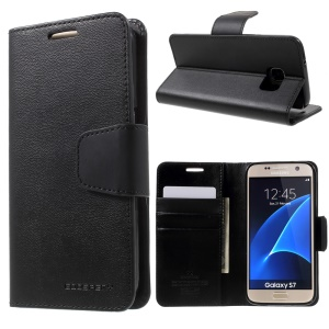MERCURY GOOSPERY Sonata Diary Case Leather Cover for Samsung Galaxy S7 G930 - Black