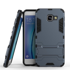 Cool Shield Plastic + TPU Shell Cover for Samsung A3 SM-A310F (2016) - Dark Blue