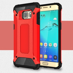 Armor PC + TPU Hybrid Back Cover for Samsung Galaxy S6 edge+ G928 - Red