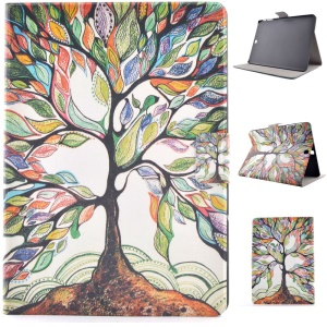 Pattern Printing Leather Stand Phone Case for Samsung Galaxy Tab S2 8.0 T710 T715 - Magic Tree
