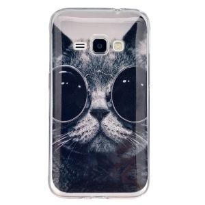 IMD TPU Phone Cover for Samsung Galaxy J1 (2016) - Cat Wearing Sunglasses