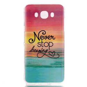 Soft IMD TPU Case Shell for Samsung Galaxy J5 (2016) - Quote Never Stop Dreaming