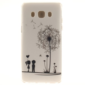 IMD TPU Skin Phone Cover for Samsung Galaxy J5 (2016) - Lovers and Dandelion