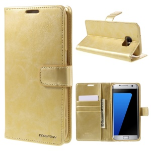 MERCURY GOOSPERY Blue Moon Leather Cover for Samsung Galaxy S7 edge G935 - Gold