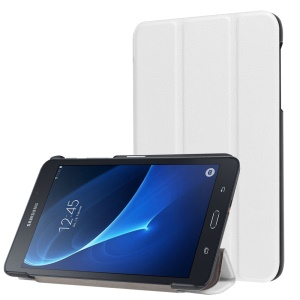 Tri-fold Stand Leather Cover for Samsung Galaxy Tab A 7.0 T280 T285 - White