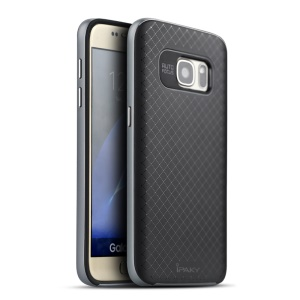 IPAKY Hybrid PC TPU Cover for Samsung Galaxy S7 G930 - Grey
