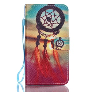 Patterned Leather Wallet Stand Shell for Samsung Galaxy J5 (2016) - Dream Catcher