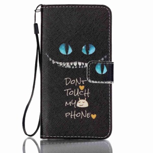 Patterned Leather Card Holder Case for Samsung Galaxy J5 (2016) - Serious Warning