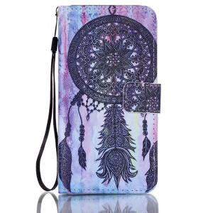Patterned Leather Wallet Protectve Shell for Samsung Galaxy J5 (2016) - Retro Dream Catcher