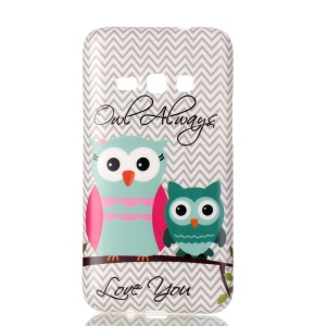 Soft IMD TPU Shell Case for Samsung Galaxy J1 (2016) - Adorable Owls and Confessions of Love