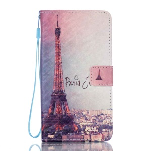 Wallet Stand Leather Flip Case for Samsung Galaxy J7 (2016) - Paris Eiffel Tower