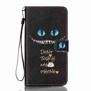 Leather Stand Case for Samsung Galaxy J7 (2016) - Monster and Do Not Touch My Phone