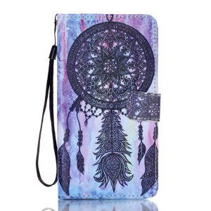 Leather Wallet Flip Case for Samsung Galaxy J7 (2016) - Tribal Dream Catcher